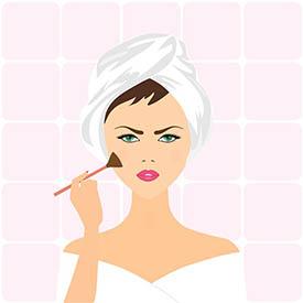 exhibir un maquillaje