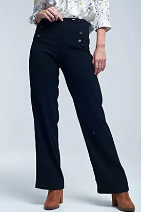 pantalon culotte con estilo marinero